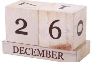 A note or two about the markets on Boxing Day.