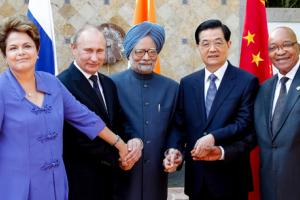 BRICS countries come together to form international financial architecture.