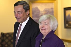 Fed Chair Yellen and ECB leader Draghi