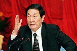 Zhu Rongji speaking in China.