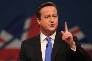 British PM David Cameron announces cutbacks to immigrant benefits.