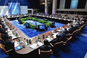 The G20 meeting is followed by an EU finance ministers meeting.