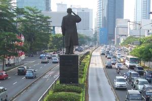 Capital city Jakarta in Indonesia.