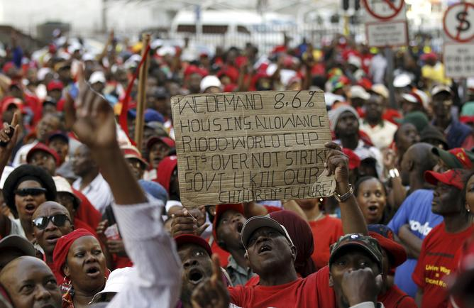 Public service worker growth is exploding in South Africa.