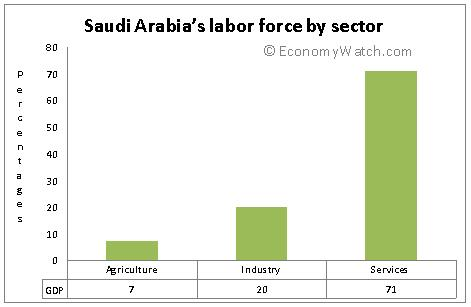 Saudi Arabia's labor force by sector