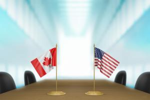 The U.S. and Canada are going different directions on employment.