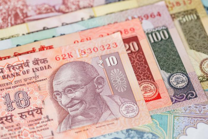 A less attractive India means a weaker rupee.