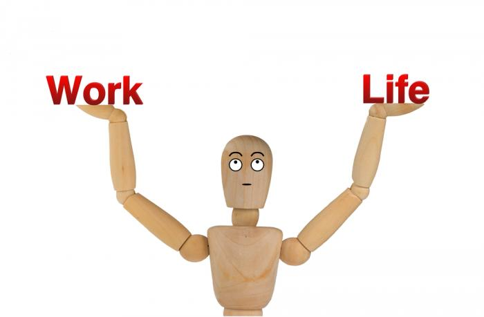 Work-Life-Balance does not mean they should go in that order.