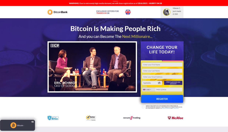 Bitcoin Revolution Truffa nel Regno Unito