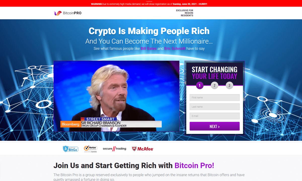 modello di sito web bitcoin trading)