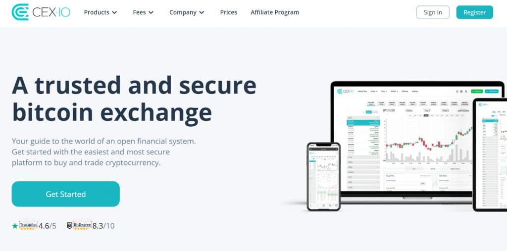 CEX.io Homepage