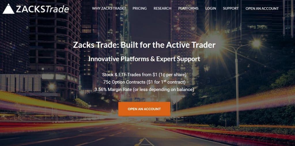 Zacks Trade Stock Broker