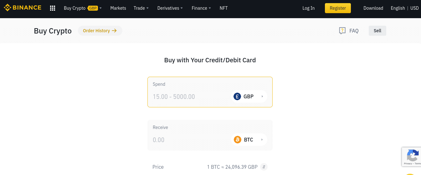 binance supported payments