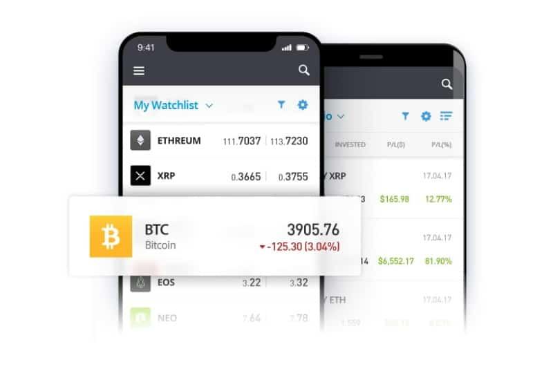 eToro free stock trading app UK