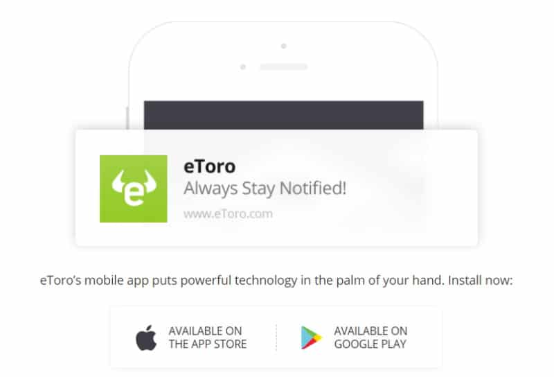 eToro stay notified