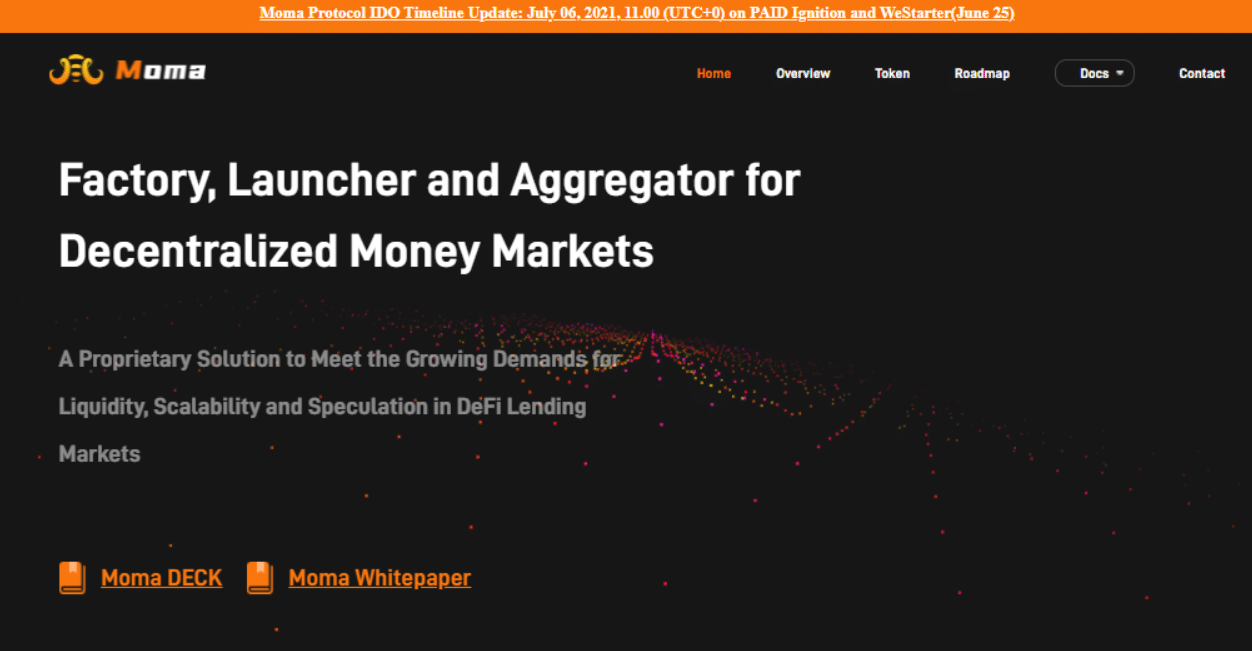 moma finance best upcoming ICOs