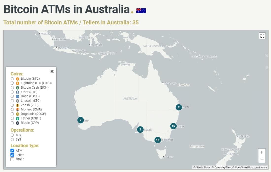 Bitcoin ATMs in Australia