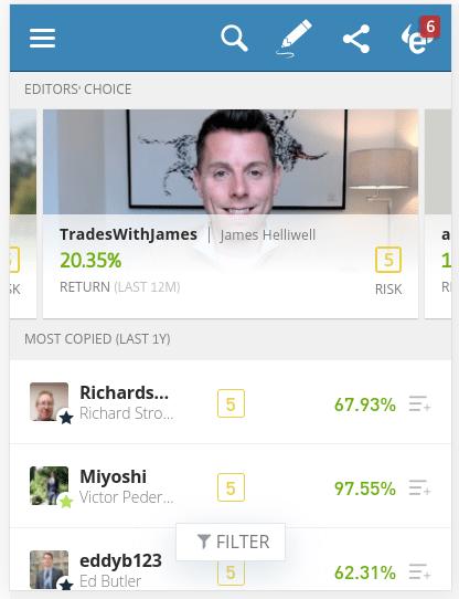 etoro copy trading features