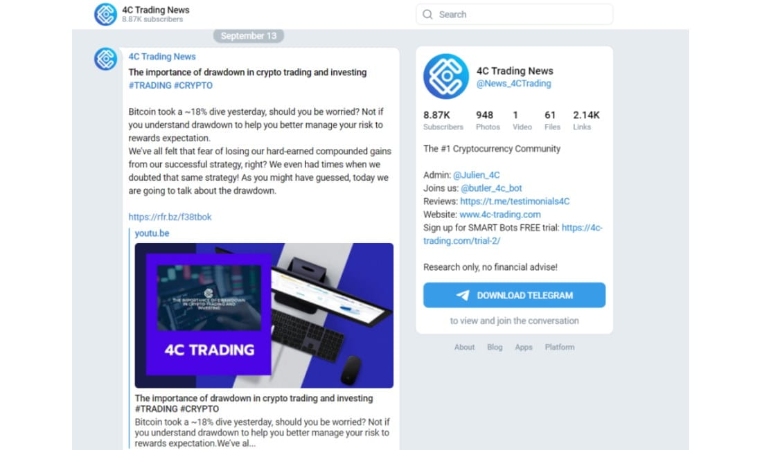 4C Trading Telegram Group
