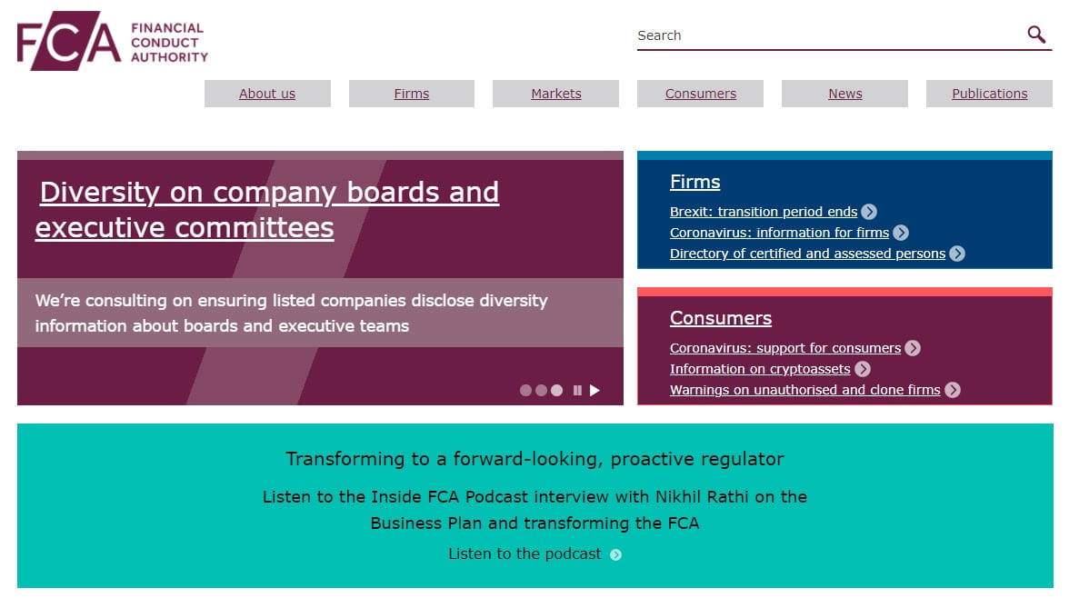 UK's Financial Conduct Authority