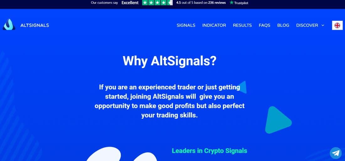 Crypto signals with AltSignals