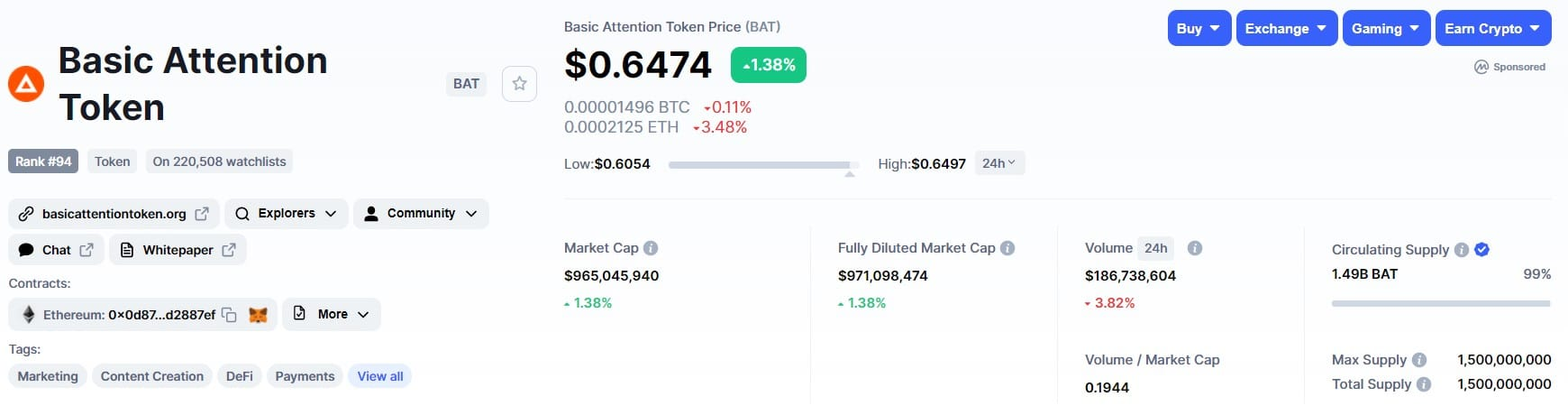 invest in basic attention token etoro
