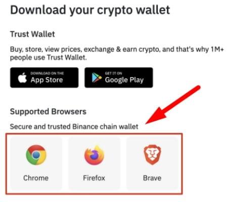 Binance download Trust wallet