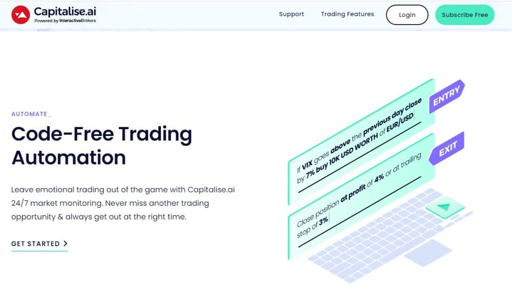 best algorithmic trading platform - capitalise.ai
