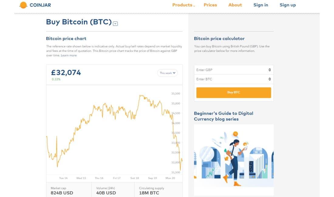 Best Crypto exchange Canada - CoinJar