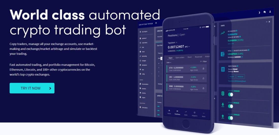 Leading trading robot - Cryptohopper