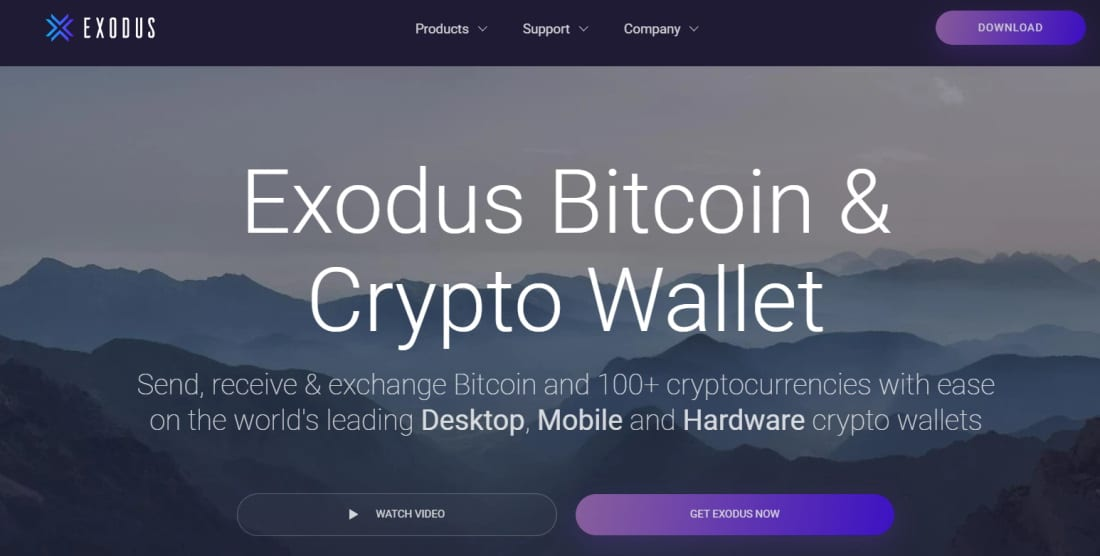One of the best Bitcoin wallets - Exodus Bitcoin wallet