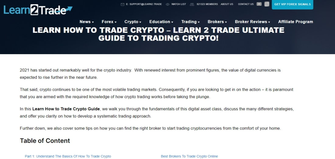 Learn2Trade educational resources
