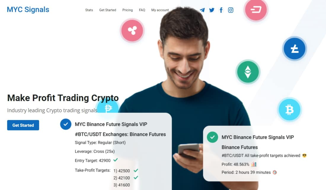 Industry leading crypto trading signals with MYC Signals