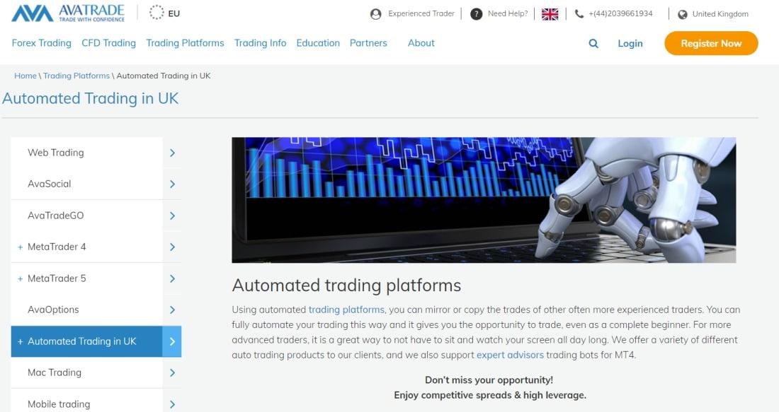 AI Trading Platform - AvaTrade