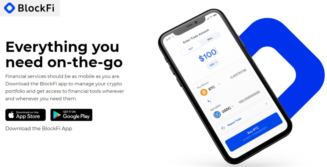 Best Bitcoin Loans with the BlockFi mobile app
