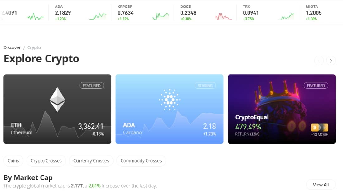 Buy and sell cryptocurrencies on eToro