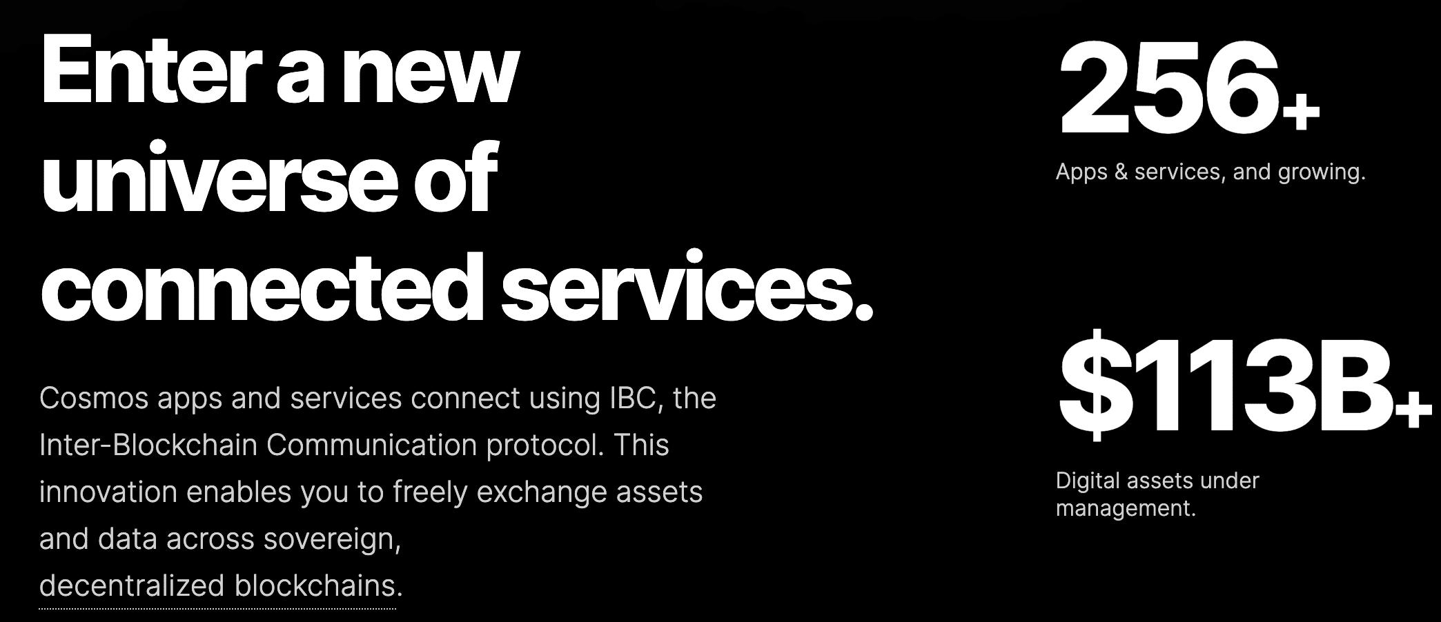 COSMOS blockchain ecosystem